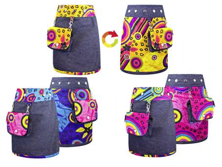 Sunsa Kinder Wickelrock Wenderock Kinder Rock Jeansrock