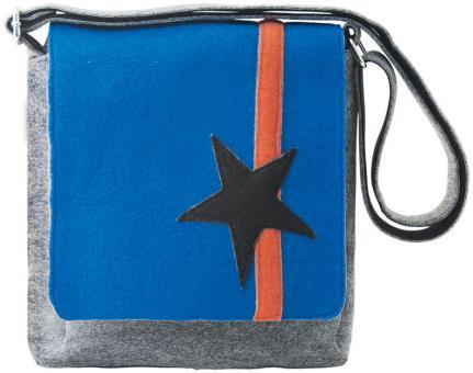 Sunsa blaue Filz Messenger Tasche Umhängetasche