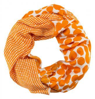 Sunsa Loop Schal Schlauchschal Viskose grün und orange