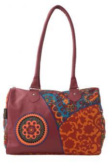 Sunsa rote Schultertasche Canvas Tasche Handtasche