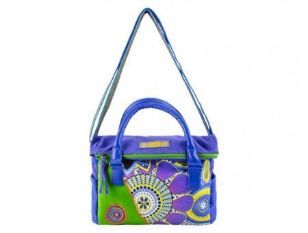 Sunsa blaue Canvas Tasche Handtasche Umhängetasche