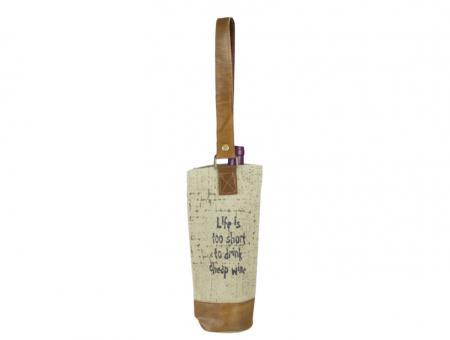 Sunsa Vintage Wein Flaschen Tasche Bottelbag