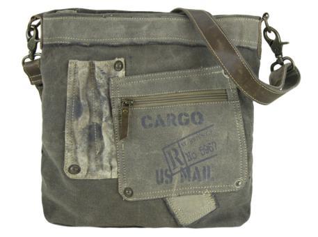 Sunsa Vintage Tasche Schultertasche Umhängetasche Canvas Crossbody khaki