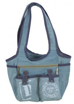 Sunsa Canvas Tasche Handtasche Schultertasche Shopper bedruckt