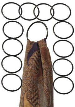 12 Aufhängeringe schwarz Ø ca. 8 cm