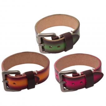 Armband Leder Gürtel Look