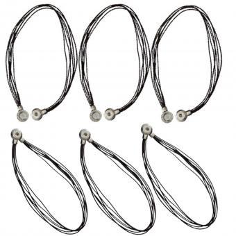 Leder Halskette braun click button Chunks Anhänger