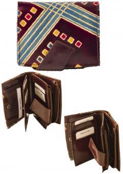 Sunsa dunkelbraune Leder Geldbörse Portemonnaie Brieftasche