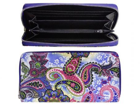 Sunsa Canvas Geldbörse Portemonnaie Brieftasche nur noch blau-rot