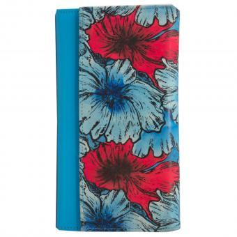 Sunsa blaue Leder Geldbörse Portemonnaie Brieftasche Clutch
