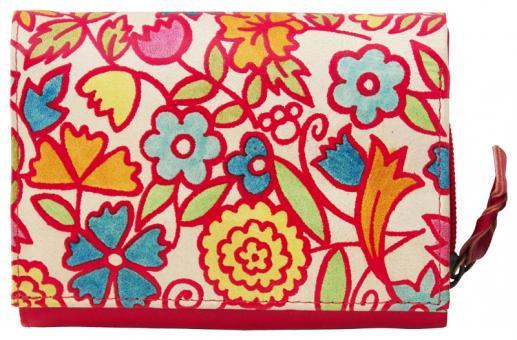 Sunsa rote Leder Geldbörse Portemonnaie Brieftasche