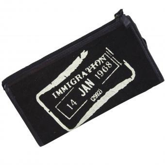 Sunsa Vintage Geldbörse Canvas Leder Börse schwarz L