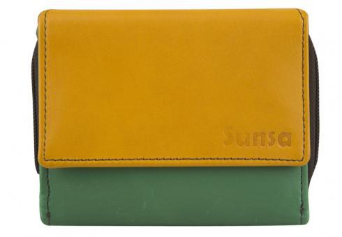 """Sunsa Creations """"Mira"""" Damen Leder Geldbörse Portemonnaie Brieftasche"""