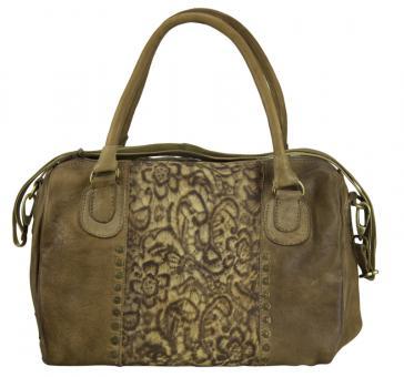 Sunsa Ledertasche Handtasche Schultertasche Umhängetasche Damentasche