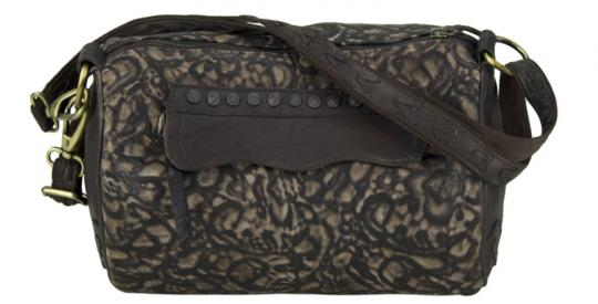 Sunsa Vintage Hand Tasche Bowling Bag Schultertasche Leder Kaffee
