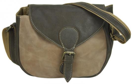 Sunsa Tasche Schultertasche  Druck used Look Umhängetasche Cross Body Bag Leder