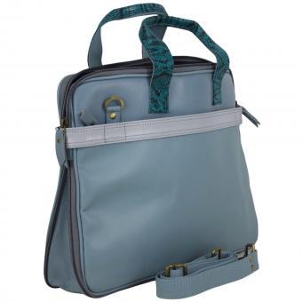 "Sunsa Creation ""Laptop"" Ledertasche 15,6 Zoll. Damen Laptop Businesstasche aus Lederresten"