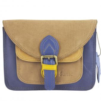 """Sunsa Creation """"Fun Bag""""  Damen bunte Ledertasche Schultertasche Umhängetasche Messengertasche"""