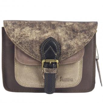 """Sunsa Creation """"Fun Bag""""  Damen bunte Ledertasche. Kleine Umhängetasche aus Lederresten"""