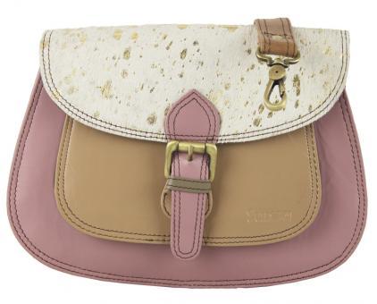 """Sunsa Creation """"Donna"""" Damen bunte Ledertasche Schultertasche Umhängetasche Messengertasche"""