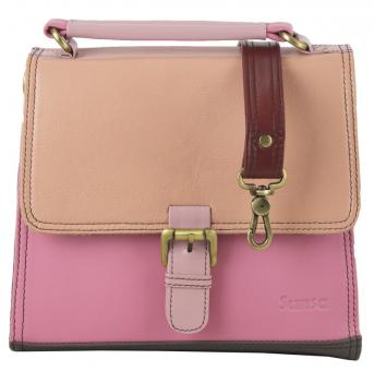 "Sunsa Creation ""Beauty"" Damen bunte Ledertasche Schultertasche Umhängetasche Messengertasche"