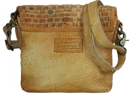 639ef42a83d93 Sunsa Tasche Schultertasch Handtasche Leder orange