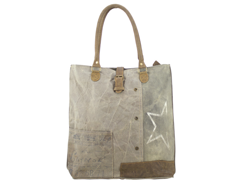 jalan jalan gmbh sunsa vintage tasche schultertasche stone washed canvas leder jalan jalan. Black Bedroom Furniture Sets. Home Design Ideas