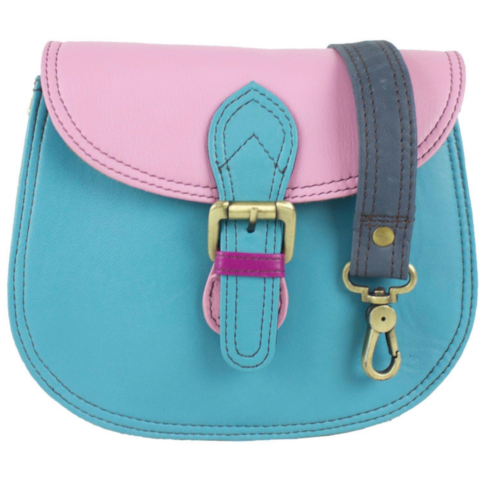 a50328b51f757 Sunsa Damen kleine bunte Ledertasche Schultertasche Umhängetasche  Messengertasche Crossbody Tasche